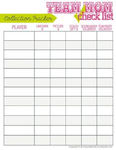 Snack schedule template fall soccer season snack drink for Baseball schedule template free