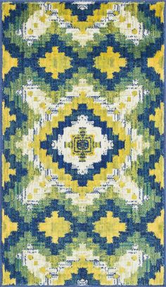 Isabelle HIS 03 Ivory / Green Rug