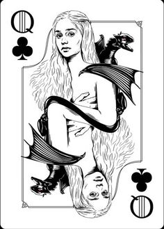 Playing Cards - Queen Of Clubs, Daenerys Stormborn, Game Of Thrones Playing Cards by Paul Nojima, Time Void - playingcards, playingcardsart, playingcardsforsale, playingcardswithfriends, playingcardswiththefamily, playingcardswithfamily, playingcardsgame, playingcardscollection, playingcardstorage, playingcardset, playingcardsfreak, playingcardsproject, cardscollectors, cardscollector, playing_cards, playingcard, design, illustration, cardgame, game, cards, cardist