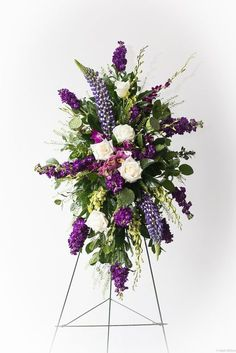Send Extravagant Sympathy Spray in New Orleans, LA from Fat Cat Flowers, LLC, the best florist in New Orleans. All flowers are hand delivered and same day delivery may be available. Flower Arrangement Designs, Unique Flower Arrangements, Unique Flowers, Exotic Flowers, Pretty Flowers, Church Flowers, Funeral Flowers, Wedding Flowers, Casket Flowers