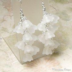 Maiglöckchen weiß Floral Cluster Kristall von whimsydaisydesigns