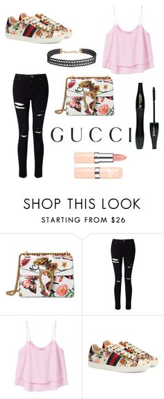 """Presenting the Gucci Garden Exclusive Collection: Contest Entry"" by camibelen4 ❤ liked on Polyvore featuring Gucci, Miss Selfridge, MANGO, Lancôme, Humble Chic and gucci"