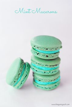 These Mint Macarons are light, crisp French macarons with mint buttercream frosting. They are perfect for wedding dessert buffets and as special party treats.