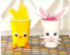 DIY rabbit and chicken glasses