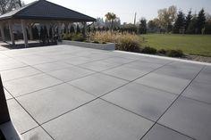 Concrete Backyard, Backyard Play, Brick Pathway, House Paint Exterior, Pavement, House Painting, Pathways, Pergola, Tiles