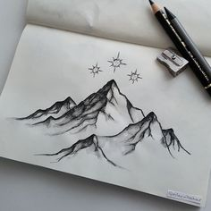 "asongofdreamerswholived: ""eileenbahar-arts:"" The Night Court ""Kann ich . : asongofdreamerswholived: ""eileenbahar-arts:"" The Night Court ""Kann ich . Cool Drawings, Drawing Sketches, Sketching, Montain Tattoo, Hanya Tattoo, Mountain Drawing, Mountain Sketch, Diy Y Manualidades, Pencil Art"