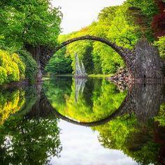 The bridge to the shire ✨✨ Rakotz Bridge - Germany. Picture by ✨✨@Dominik_Wojcik✨✨ Happy Thursday