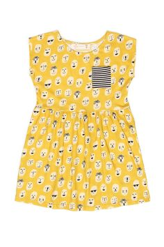 What a fabulous find for a toddler. A playfully printed & vibrant dress in a…