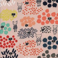 Flower Shop by Alexia Marcelle Abegg for Cotton & Steel - Flowers For Sale in Peach Michael Miller, Textiles, Textile Patterns, Sewing Patterns, Kawaii, Grand Chat, Stash Fabrics, Flowers For Sale, Quilt Bedding
