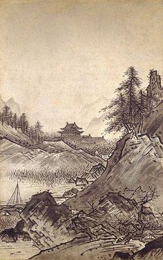 東京国立博物館 - コレクション 名品ギャラリー 絵画 秋冬山水図(しゅうとうさんすいず) 画像一覧 拡大して表示