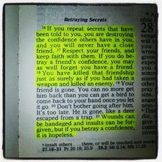 backstabbing in the bible