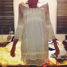 White Boho Empire Waist Dress Beautiful white empire waist dress. Effortlessly achieve the boho vibe with some sandals or go more country with cowboy boots. I promise you, anyway this dress is styled you will look like an angel. Size Small. Unlined. Worn twice. 100% polyester. Awesome quality. ✨ Always negotiable!✨ Dresses