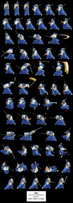 Samurai Sprites ShowDown [15 Sheets To Arm Sprites] [Download Gifs]