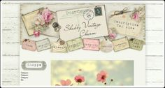 Vintage postcard & ephemera, scrappy-style tags, and weathered wood gives this design loads of character and vintage charm! Website Design, Vintage Shabby Chic, Vintage Style, All Design, Design Ideas, Wordpress Theme, Vintage Designs, Custom Design, Gallery Wall