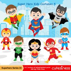 Super Hero Series 23 Digital Clipart : 21 Graphics    ----------------------- ★★ Package Included ★★-----------------------------------    *You will