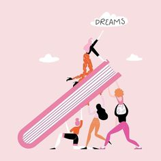 If we lift eachother up, we have the power to make all our dreams come true ✨ Be a woman who supports women 💪   Tag someone below who you want to lift up today! 👇   📷: )  of March sales will be donated to support the for Feminist Quotes, Feminist Art, Illustrations, Illustration Art, Great Things Take Time, Girls Rules, 3d Prints, Powerful Women, Women Empowerment