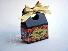 Stampin' Up! Halloween Bash Treat Holder -- Metro Detroit Papercrafters Meetup