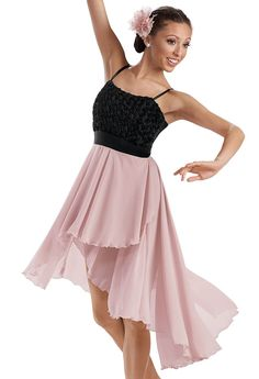 Rosette High-Low Skirt Dress -Weissman Costumes