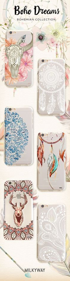 Bohemian Dreams Collection of Phone Cases for iPhone & Samsung.