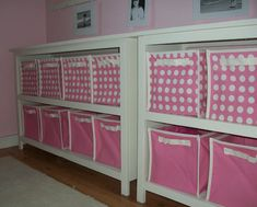 """12"""" 6cube storage bins for SCRAPBOOKING!  Put two (one facing in and one facing out) on either side of a door sized tabletop... and I'll have all the workspace/storage I'll ever need. :)"""