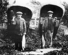 Coracle men with their catch of fish 1905 by MuseumWales, via Flickr. Coracle men still fish today in Carmarthenshire 2013!
