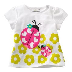 60.00$  Watch here - http://alile4.worldwells.pw/go.php?t=1000003329028 - Summer cotton T-shirt girl child children wear short sleeved T-shirt  half sleeve multiple colors for girls in summer 60.00$
