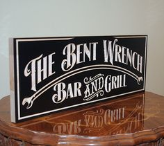 Custom Wood Signs: Carved Wood Sign Grill by BenchMarkCustomSigns
