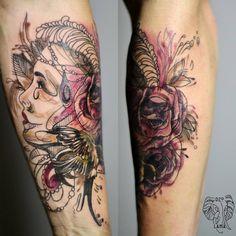 Redberry Tattoo Studio Wrocław #tattoo #inked #ink #studio #wroclaw #warszawa #tatuaz #dresden #redberry #katowice #dzolama #redberrytattoostudio #amaizingtattoo #poland #berlin #sketch #delicate #color #kruk #raven #roza #roses #portrait #portret #kobieta #woman