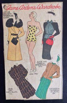 US $8.95 New in Dolls & Bears, Paper Dolls, Vintage