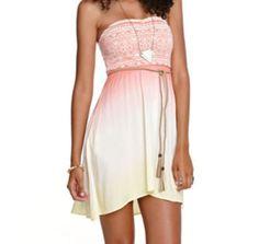 Cute sun dress w/ rope belt