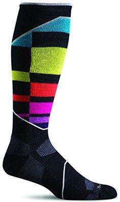 86e6dbca901 Sockwell Womens Ski Medium Compression Socks BlackMulticolor MediumLarge    Read more at the image link.
