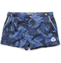 33c9072501 Robinson les Bains Oxford Court Short-Length Camouflage-Print Swim Shorts  Camo Shorts,