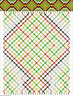 Friendship bracelet pattern 59077 -  30 strings, 6 colours