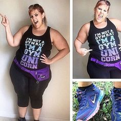 Throwback to when  @glitterandlazers rocked it in our cropped leggings!!! Love her style! #reallolagirl #plusfit #lolagetts #active #tbt #rockinit #workingit #weloveit #unicorn