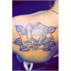 Money rose tattoo Destiny ✨ – Tattoo, Tattoo ideas, Tattoo shops, Tattoo actor, Tattoo art - Famous Last Words Bull Tattoos, Sexy Tattoos, Wing Tattoos, Cloud Tattoos, Forearm Tattoos, Tatoos, Piercing Tattoo, Ear Piercing, Money Rose Tattoo