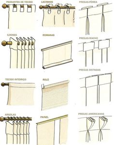 have video on TV channel Casa Clean and post no … - Armchair Ideas No Sew Curtains, Home Curtains, How To Make Curtains, Hanging Curtains, Curtains With Blinds, Room Interior, Interior Design Living Room, Rideaux Design, Casa Clean