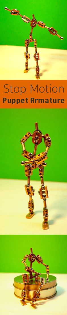 After some research about how they do it at Laika studio's for stop motion movies like Boxtrolls and Coraline, I figured I should start by making an armature for the stop motion puppet.