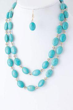 Turquoise Anna Necklace Set on Emma Stine Limited