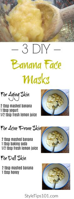 Get beautiful, glowing skin in a pinch with these DIY banana face masks.