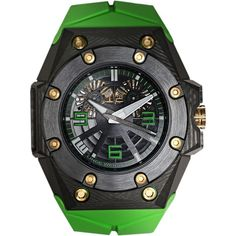 Linde Werdelin Oktopus II Double Date Green Sculpted Multi-Layered Carbon on Watch Agora