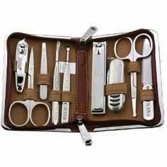 Rimei 70086 9pcs Personal Nail Care Clippers Manicure Pedicure Set Travel Grooming Kit Nail Care Tool with Case by AUBIG. $25.59. The attachments of the pedicure manicure set is made from durable Stainless steel. You can use this nail manicure set make your hands and feet more tidy and beautiful. Great for vacation travel and business trips,convenient to take anywhere. With protective case,compact design,fully furnished meet your needs. Be a good gift for your families and frien...