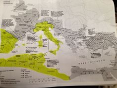Highlighted area shows the maximum extent of territory controlled by The Roman Emperor Maxentius. Circa 308AD