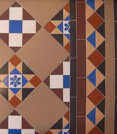Victorian-style floor tiles from Craven Dunnill Jackfield Ltd., which has been making them since 1872.