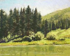 Lee McVey - Fenton Lake- Pastel - Painting entry - December 2015 | BoldBrush Painting Competition