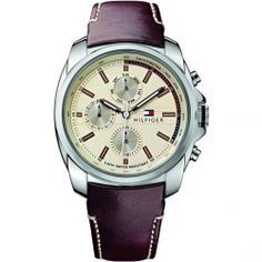 Τοmmy Hilfiger Preston Brown Leather Strap 1791079