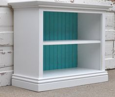 Children's Bookshelf in White and Teal
