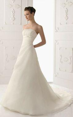 a55ee81cd63c Abito da Sposa Senza Maniche Elegante con Perline A Terra in Organza  Vestito Da Matrimonio In
