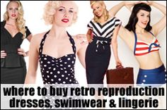 Vintage reproduction clothing (Pin-up, burlesque & rockabilly) – The ultimate shopping list! This blog, BigGirlsBrowse.com, is an excellent read and resource.  This list is a great place to start revamping my look!