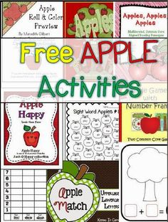 Great list of FREE apple themed activities!