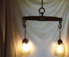 Antique Single Tree (Horse Evener) Light Fixture